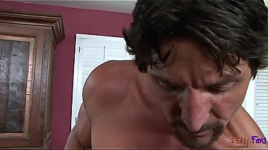 Busty stepmom pounded after sucking