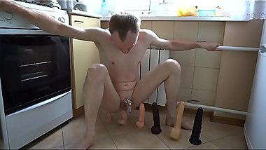 LanaTuls - 6 dildos ride in the kitchen