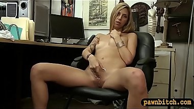 Small breasts babe fucked by pawn guy