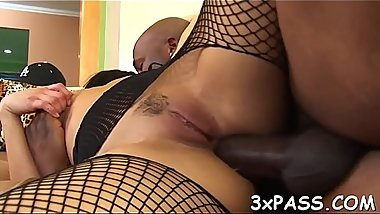 Anal of sexual slut is stuffed by big black piece of meat