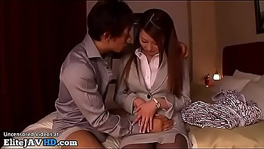 Japanese assistant has sex in pantyhose - More at Elitejavhd.com