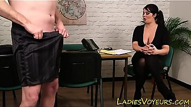 Big tit domme mocks loser
