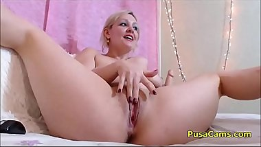 Hot Blonde Milf Masturbate Wet And Juicy Pussy With Dildo