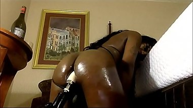 Sexy Busty Tranny Fucking Her Ass With A Sex Machine