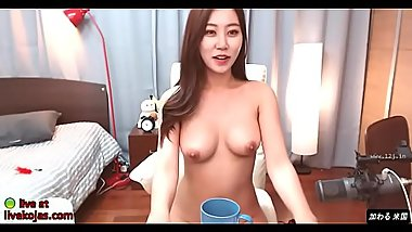 Busty Korean shows her big tits - video link for more