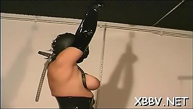 Tractable chick coarse breast bondage xxx bdsm show