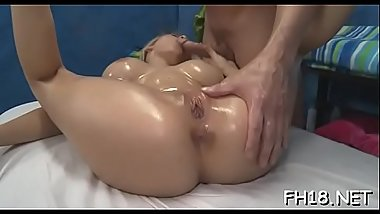 Angel drilled after sensual massage given by jake