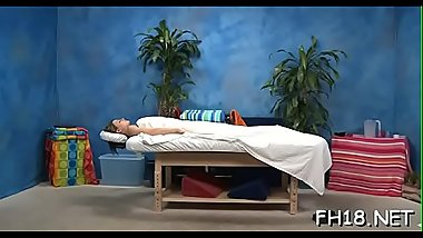 Teen with a soaked booty gets nailed during a massage