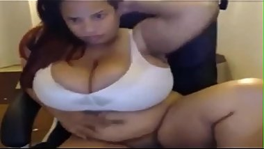 Latina with giant breasts