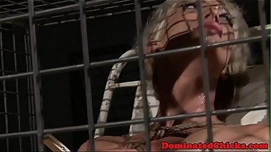 Busty submissive milf fucked until cumshot