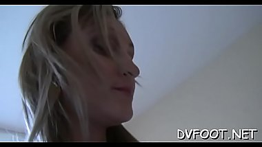 Beauty gets her feet licked in hd quality on footdomvideos.com