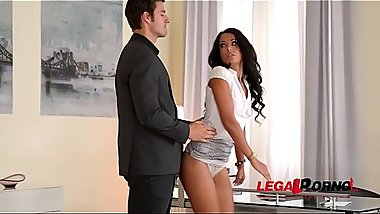Secretary Layla Sin Spanked And Dominated By Boss On First Day At Office GP109