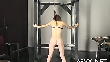 Naked women bizarre bondage combination of real porn