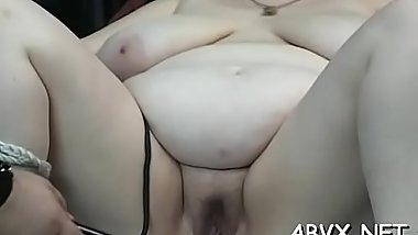 Young sweetheart endures harsh treatment on her pussy and tits