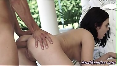 Stunning babe drilled in her ass outdoors