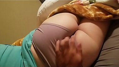 My wife fisrt time showing ass she doesnt know