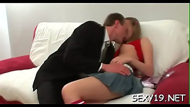 Immoral doggystyle pounding from horny mature teacher