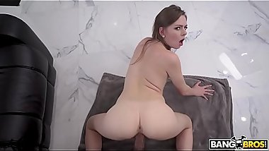 A girl with a beautiful ass while working jerks off and Fucks with a black guy