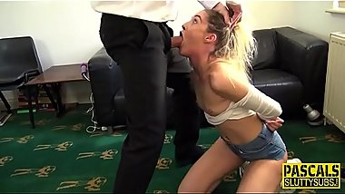 Sub pounded in threeway