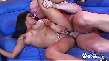 Exotic Allanah Li Has Her Pretty Face Fucked