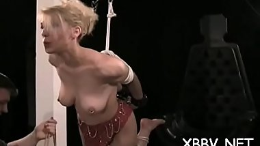Intense woman pussy bdsm with tit thraldom scenes