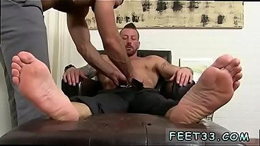 Gay blowjobs for feet lovers Hugh Hunter Worshiped Until He Cums