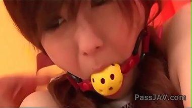 Amazing porn action in which bounded babe Miku Airi gets pleasure