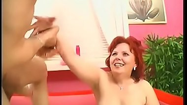 MILF cocksucker gets fucked by young cock