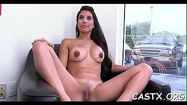 Kinky sex doll offers her fuckable twat for a casting agent