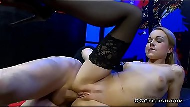 Gangbang with anal cumshots and blow bang on rebecca
