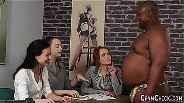 Cfnm bosses jerk fat guy