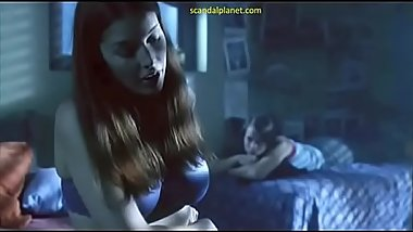 Jessica Pare Sex Against A Tree In Lost And Delirious Movie ScandalPlanet.Com