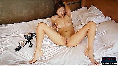 Gorgeous MILF from Russia Alise Moreno strip and tease