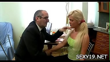 Sweetheart is having wild threesome with stud and old teacher