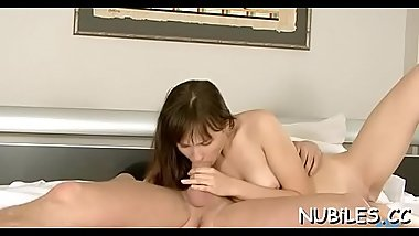 Juicy gal gets pussy licked, gives head and gets cunt nailed