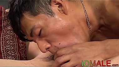 Horny young Latinos breeding and worshiping cock