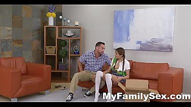 STEPDAD FUCKS COOKIE SELLING STEP-DAUGHTER- MyFamilySex.com