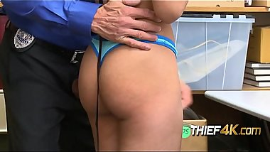 Arie is subdued into taking horny officer'_s big cock against her will