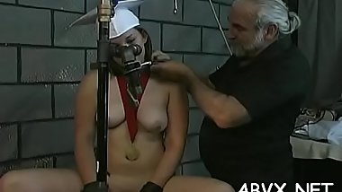 Big tits playgirl extreme bondage in lewd home scenes