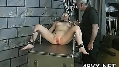 Neat dolls with fine forms astonishing xxx bondage non-professional