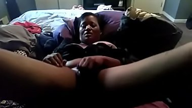 Mature ebony with wet dildo