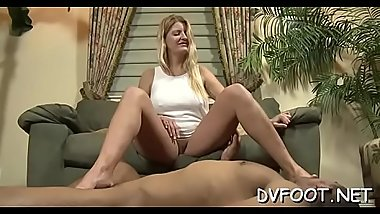 Gal plays sensually with her hawt feet on feetdomvideos.com