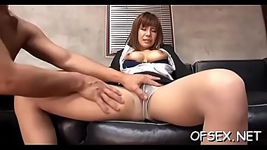 Breasty businesswoman recieves a hard cock from her boss
