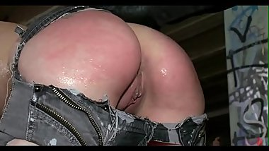 Super cute and enthusiastic beauty fucked and punished in bondage.