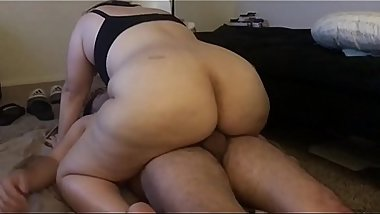 Bbw wife riding dick