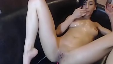 Oiled up petite CamGirl Fingers creamy Pussy and Ass til she squirts more on realwhores.tk