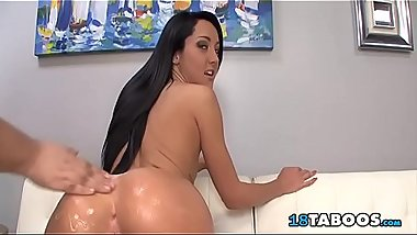 Daddy Fingering Oiled Ass Stepdaughter Sabrina Banks