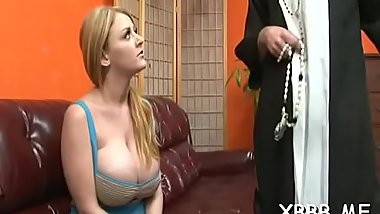 Pleasing ladies slapping and busting balls just for enjoyment
