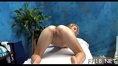 Sexy 18 year old sucks and bonks her massage therapist