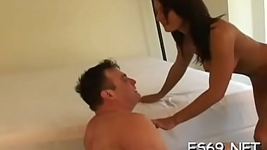 Pleasing girls are into coarse sex and facesitting often
